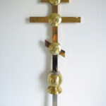 Хрест накупольний №5 А (позолота), ціна за 1 м